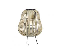 Lanterna in legno di salice marrone chiaro 44 cm BERKNER