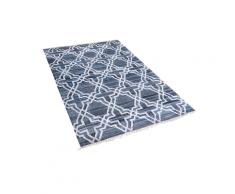 Tappeto in cotone 140 x 200 cm blu ADIYAMAN