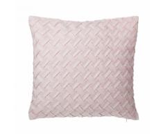 Cuscino decorativo a intreccio 45 x 45 cm rosa