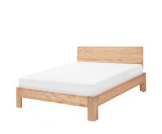Letto in legno chiaro 140 x 200 cm ROYAN