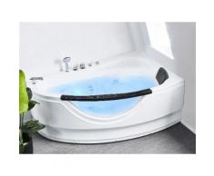 Vasca idromassaggio angolare bianca con LED 160 cm PALMA