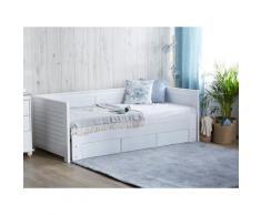 Letto regolabile moderno in color bianco 90/180x200cm CAHORS