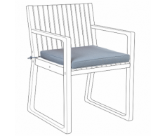 Cuscino per sedia da giardino blu SASSARI