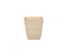 Vaso quadrato per interno ed esterno beige 39x39x43cm DELOS