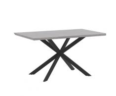 Tavolo da pranzo effetto cemento e nero 140 x 80 cm SPECTRA