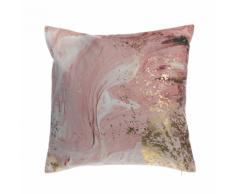 Cuscino decorativo in cotone motivo acquarello 45 x 45 cm rosa