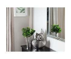 Vaso decorativo in color argento HALUZA