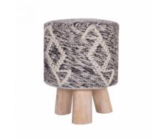 Sgabello in lana grigio/beige AGRA II