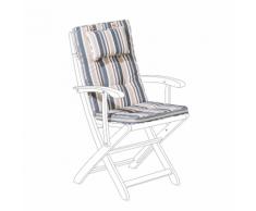 Cuscino per sedia da giardino MAUI blu beige