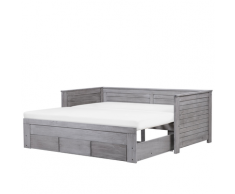Letto regolabile moderno in color grigio 90/180x200cm CAHORS