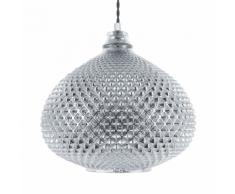 Lampadario in vetro color argento MADON