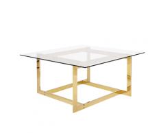 Tavolino in vetro color dorato CRYSTAL