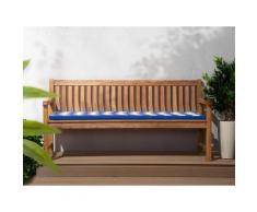 Cuscino per panchina da giardino TOSCANA/JAVA blu bianco zigzag 169x50x5cm