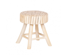 Comodino in legno di teak chiaro NAMPA