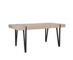 Tavolo da pranzo marrone chiaro e nero 150x90cm ADENA