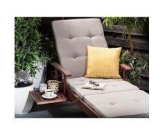 Cuscino decorativo da giardino con motivo giallo 40 x 40 cm