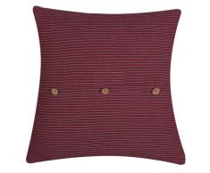 Cuscino decorativo 45 x 45 cm rosso CAMPANULA
