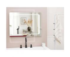 Specchio da bagno con illuminazione LED rettangolare 60 x 80 cm WASSY