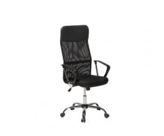 Sedia da ufficio con altezza regolabile in pelle nera DESIGN