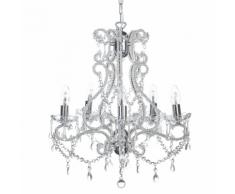 Lampadario candeliere in color argento ASCAR