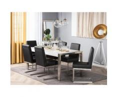Tavolo da pranzo struttura in metallo piano bianco lucido 180x90cm ARCTIC I