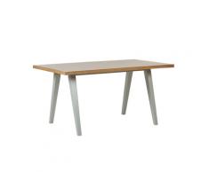 Tavolo da pranzo in legno chiaro e grigio 150 x 90 cm LEINSTER