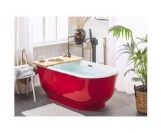 Vasca da bagno freestanding rossa ovale 170 cm TESORO