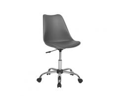 Sedia da scrivania senza braccioli in color grigio DAKOTA II