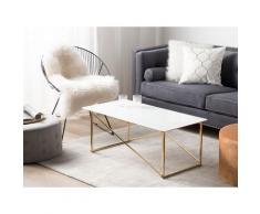 Tavolino da caffè oro bianco EMPORIA