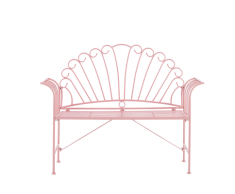 Panchina da giardino in metallo rosa 125 cm CAVINIA