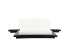 Letto stile giapponese color legno scuro 160 x 200 cm ZEN