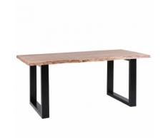 Tavolo da pranzo in legno marrone 200 x 95 cm HEBY
