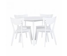 Set di 4 sedie da Pranzo bianche ROXBY