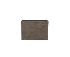 Vaso rettangolare per interno ed esterno marrone scuro 29x70x50cm EDESSA