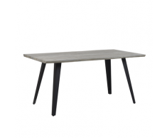 Tavolo da pranzo 160 x 90 cm legno grigio WITNEY