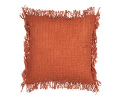 Cuscino decorativo 45 x 45 cm in cotone arancione ORTA