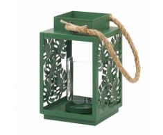 Lanterna in metallo verde UNIMAK