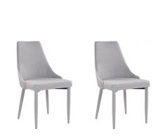 Set di 2 sedie in tessuto grigio CAMINO
