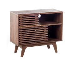 Credenza da soggiorno in legno marrone CLEVELAND