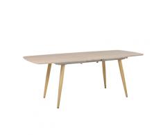 Tavolo da pranzo allungabile in colore legno chiaro 180/210 x 90 cm HAGA