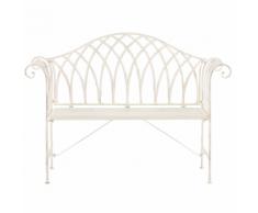 Panchina da giardino in metallo bianco 130 cm MILAZZO