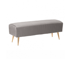 Panchina da camera da letto in velluto grigio PATERSON