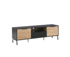 Mobile TV nero/legno ARKLEY