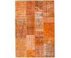 Annodato a mano. Provenienza: Turkey Tappeto Patchwork 141x204 Tappeto Moderno
