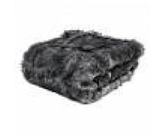 Maisons du Monde Coperta nera in simil pelliccia 150 x 180 cm SCAFFEL