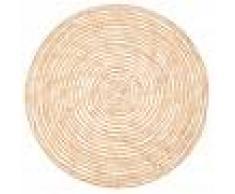 Maisons du Monde Tovaglietta rotonda in fibra vegetale intrecciata