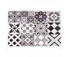 Maisons du Monde Tovaglietta in vinile con motivi a mattonelle 30x45 cm