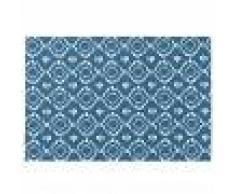 Maisons du Monde Tovaglietta in cotone blu motivi grafici