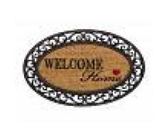 La maison de Rose Zerbino Ovale Welcome Con Bordo In Gomma 70x45 Cm