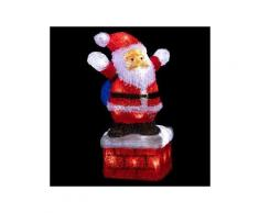 Babbo Natale luminoso Gaston Bianco freddo 40 LED
